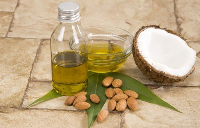 coconut and almond hair oil