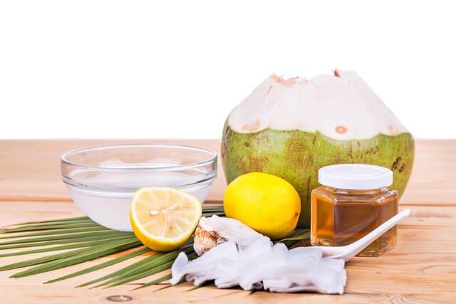 coconut and lemon hair oil