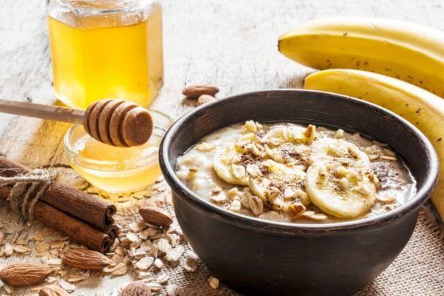 Milk, Honey and Banana paste